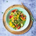 Wok recept met noedels en mango