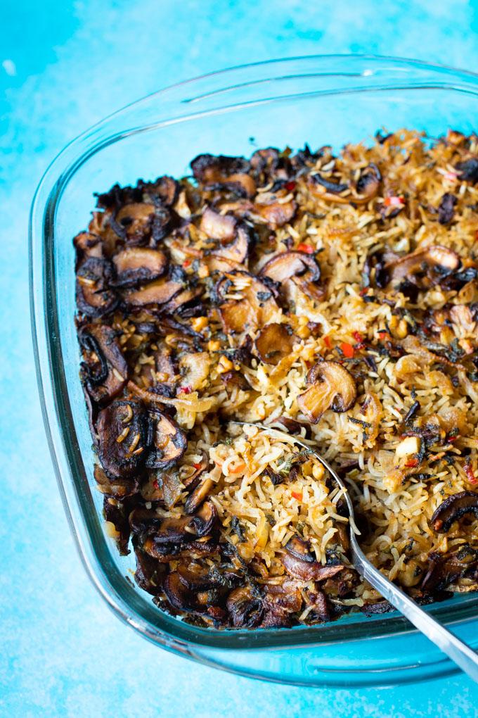 Rijstschotel met champignons en feta - ANNIEPANNIE