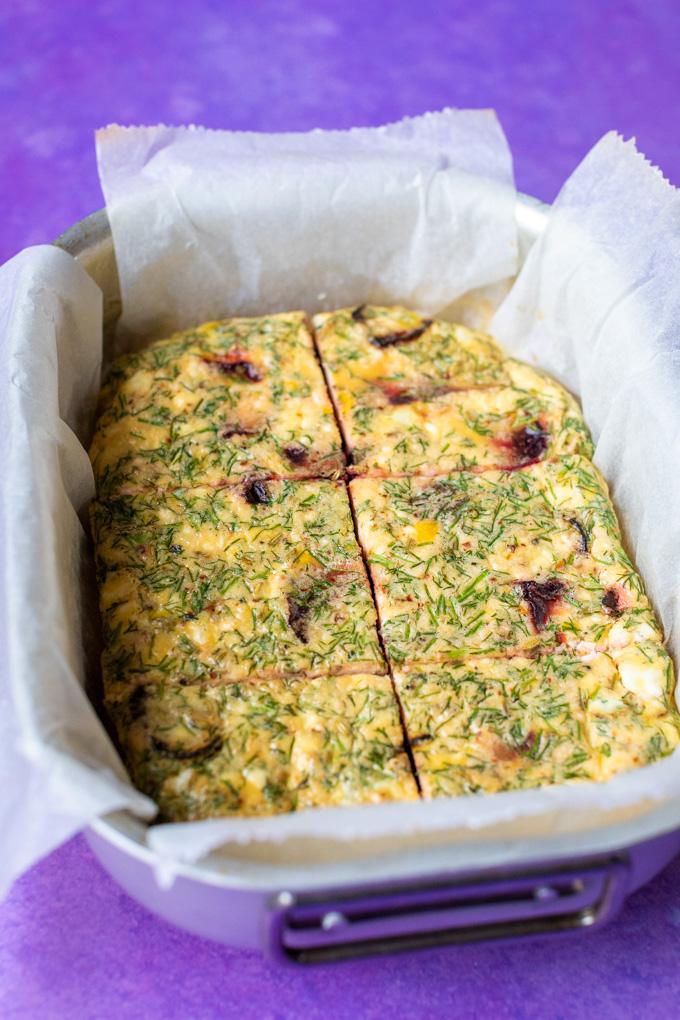 Frittata uit de oven met bietjes en feta - ANNIEPANNIE