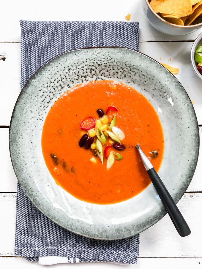Tex Mex soep | Mexicaanse soep - ANNIEPANNIE