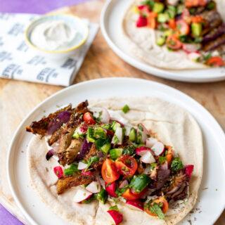 Oesterzwammen kebab met yoghurtsaus - ANNIEPANNIE